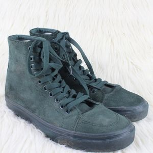 UNIF Unisex 101's High Tops Sneakers Green Suede
